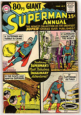 80 PAGE GIANT SUPERMAN ANNUAL #1 3.5 OFF-WHITE PAGES SILVER AGE