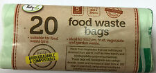 20 x 5 Litre Compostable Food Waste Caddy Liner Bags Biodegradeable Composting