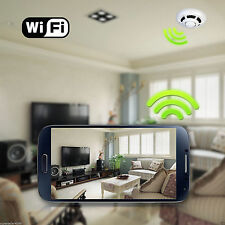 P2P Alarm IP Smoke Detector Wireless WIFI Camera Home Security System Anti Theft
