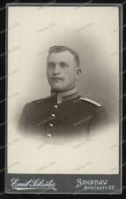 CDV-Photo-Atelier Emil Schröter-Spandau-studio-Portrait-Militär-Kaiserreich-