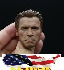 1/6 Arnold Schwarzenegger Head OLD Terminator Genisy T800 for Hot Toys phicen US