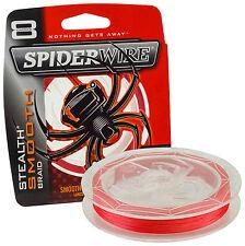 Spiderwire Stealth Smooth 8 Red 10m 0,14mm 12,50kg 1422152 Geflochtene Schnur