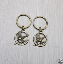 2pcs Hunger Games The Mocking Jay Key Ring/ Key Chain Great Gift Idea  Fashion