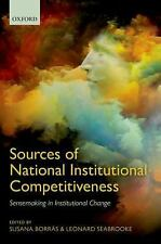 Sources of National Institutional Competitiveness: Sense-Making in Institutional