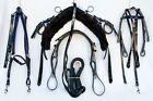 Tie Down Mini Trotting Harness - Black and Blue PVC