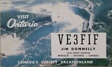 Ham Radio QSL Card, Windsor, Ontario, Canada, VE3FIF, 1962
