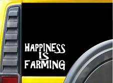 Happiness is Farming K297 8 inch decal tractor sticker