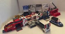 Takara Tomy Japan-HYPER RESCUE TRAIN-Medical Bay,Fire Truck,Police Car/Boat+XTRA