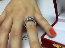 Sale! 1.50CT GENUINE PRINCESS CUT DIAMOND ENGAGEMENT PAST PRESENT FUTURE RING P3