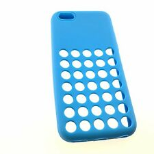 iPhone 5C Ultra Soft Gel Silicone TPU Case Back Cover with Dots Holes 4""