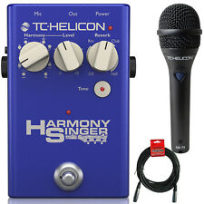 TC Helicon Harmony Singer 2 Vocal Processing Pedal + MP75 Microphone + XLR Cable