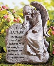 """""""Special Father"""" Loved Ones Lost Cemetary Memorial Garden Angel Statue"""
