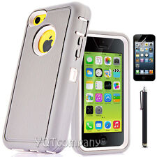 For Apple iPhone 5C Hybrid Shockproof Armor Protective Hard Case Cover