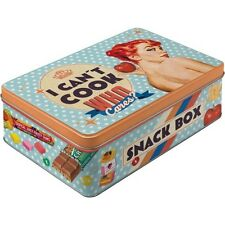 Nostalgic-Art Vorratsdose flach - I Can?t Cook - Snack Box
