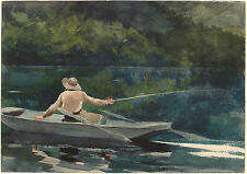 Winslow Homer Watercolor Reproductions: Casting, Number 2: Fine Art Print