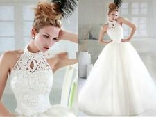 Charming Halter Proms Party Deb Ball Wedding Dress Evening Pageant Custom Size