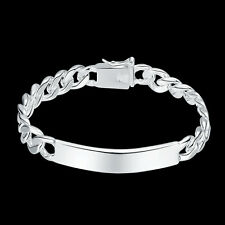 Men's Fashion 925 Sterling Silver Filled Crub Link Chain Bangle Bracelet Jewelry