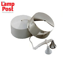 Dimming Pull Cord / Dimmer Pull Switch *WHITE & CHROME*