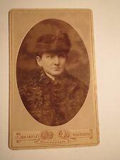 Regensburg - Babette Schauberger ? als Frau im Mantel mit Hut - Portrait / CDV