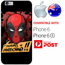 iPhone 6 6S Case Cover Silicone Deadpool Renolds Funny Iron man Captain America