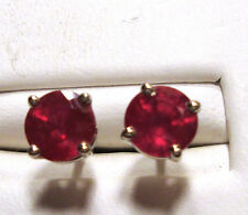NEW Ruby Stud Earrings 2.02ct 18k YG Screw Back      EVERYTHING MUST GO!!!