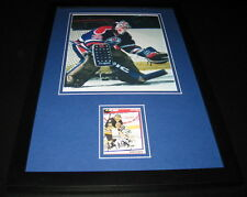 Andy Moog Signed Framed 11x17 Photo Display Oilers