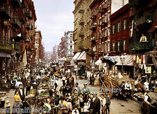 New York City Mulberry St MARKET Vintage photo print  1901 8X10