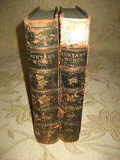 Antique 2  Books Of The Pilgrim's Progress, The Holy War, By John Bunyan -1870