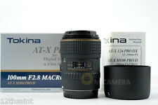 Tokina AT-X PRO D AF 100mm f/2.8 Macro Lens For Canon (NEW)