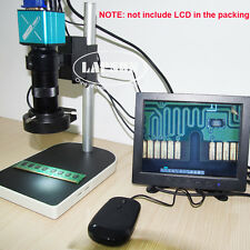 100X 1080P VGA USB FULL HD Microscope Camera  Industrial Lab C-mount ZOOM Lens S