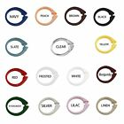Set of 12 Easy-to-Use Plastic Snap On Shower Curtain Rings / Hooks