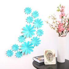 12pcs 3d fleur art decal pvc wall sticker réfrigérateur autocollant