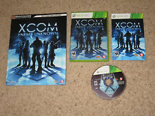 XCOM Enemy Unknown Xbox 360 w/ RARE Strategy Guide Action RPG X Com Shooter