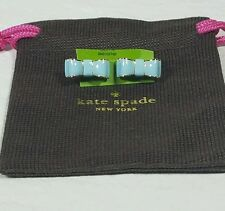 "New Kate SpadeNew York ""Take a Bow"" Enamel Scatter EARRING  Blue"