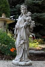"18"" MARY QUEEN OF HEAVEN GARDEN STATUE Holding Child Jesus OUR LADY OF VICTORY"