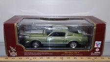 1/18 YATMING/ROAD LEGENDS 1968 SHELBY GT-500KR COPPER GREEN w/WHITE STRIPES gd