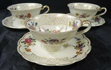 3 Antique Royal Bayreuth Cups & Saucers * Marie Antoinette Pattern