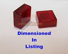 Pair Self Adhesive Reflector 20mm SQUARE Red Motorcycle MOT Trailer Gate Post