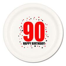 Happy 90th Birthday (Age 90) Party Supplies DESSERT CAKE PLATES
