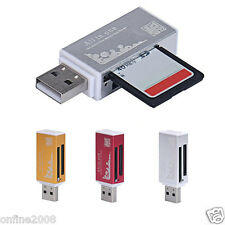 All in 1 USB 2.0 Multi Memory Card Reader For Micro SD TF SDHC M2 MMC MS PRO DUO