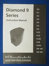 WHARFEDALE DIAMOND 9 SERIES INSTRUCTION OWNER MANUAL ORIGINAL 15 PAGES