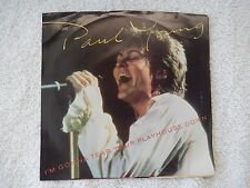 "Paul Young ""I'm Gonna Tear Your Playhouse Down/Broken Man"" PS 45 RPM Record"