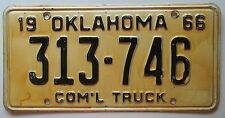 Oklahoma 1966 COMMERCIAL TRUCK License Plate # 313-746