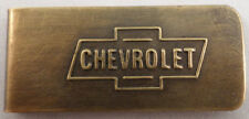 Automotive Chevrolet Motor Company Money Clip Solid Brass Antique Patina #B-39