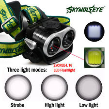15000LM LED Headlight Flashlight Torch Cree 2 x XM-L T6 Headlamp Head Light Lamp