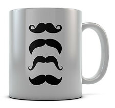 Hipster Mustache Collection Mug Cup Present Gift Coffee Birthday