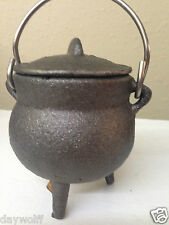 "Cauldron 3"" Cast Iron Plain Simple Lid & Handle, Wicca, Pagan Witch Shop Item"
