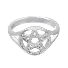 Wicca Pentacle Pentagram Ring Wiccan Pagan Witchcraft Jewelry Size 7.5