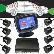 8 Parking Sensors Car Rear View Reversing LCD Monitor Display Radar System Kit