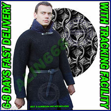 Blackend Chainmail Shirt Butted Chain Mail Armor Costume Chainmaille Medium Size